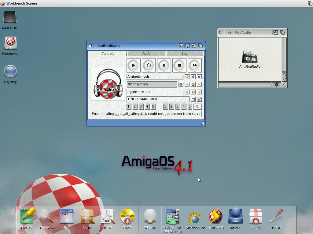 AmiModRadio in OS4
